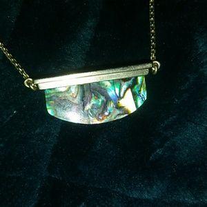 Kendra Scott dean necklace abalone